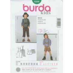 BURDA - 9508 Pantalons enfant