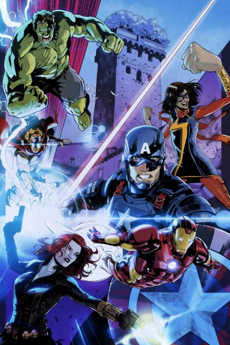 Marvel Team poster by Marvel Official Brand Shop thumbnail