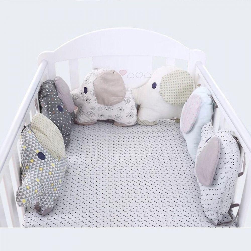 Baby Bed Bumper 6PCs//Set Newborn Animal Elepant Nursery Bedding Crib Protection