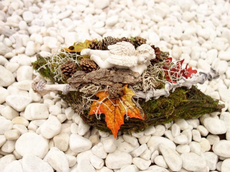 Grabgestecke Allerheiligengestecke Engel Urnengrab von Missbellflower auf DaWanda.com