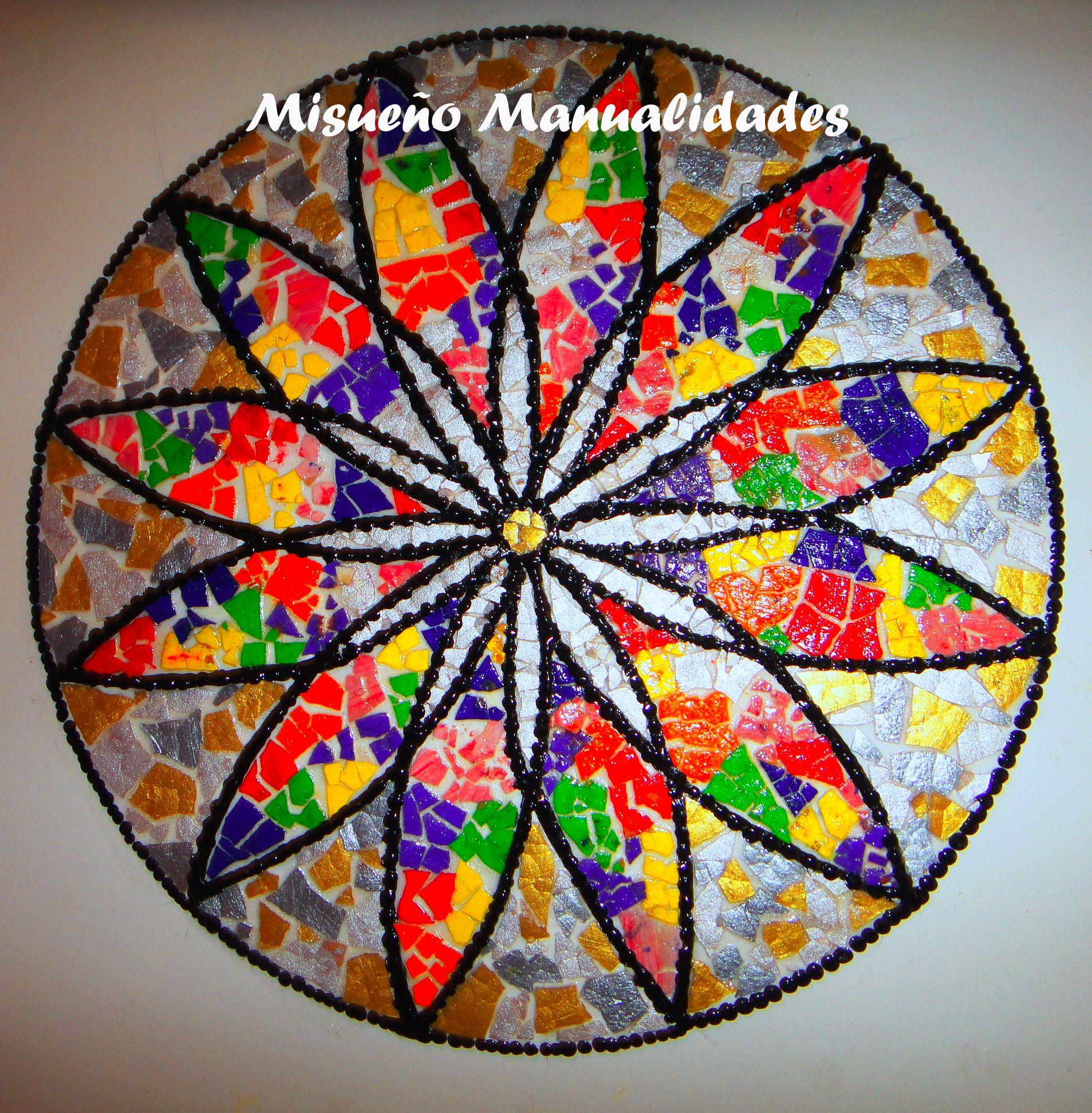 Taller mosaico con c scara de huevo - Manualidades para adultos ...