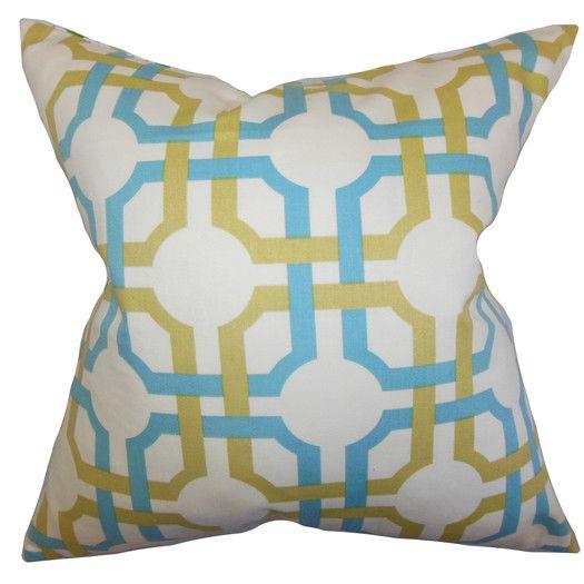 The Pillow Collection Aebba Tile Cotton Throw Pillow | AllModern