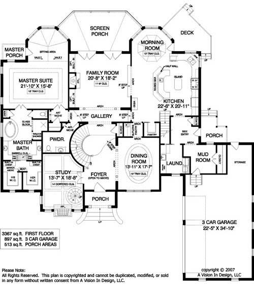 french country house plan european house plan luxury main level master octagon screen