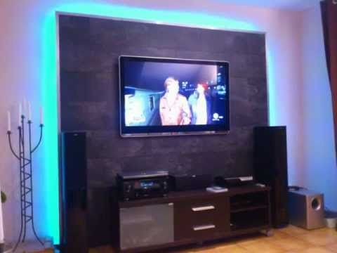 LED TV Wand selber bauen, Cinewall do it yourself Wohnideen