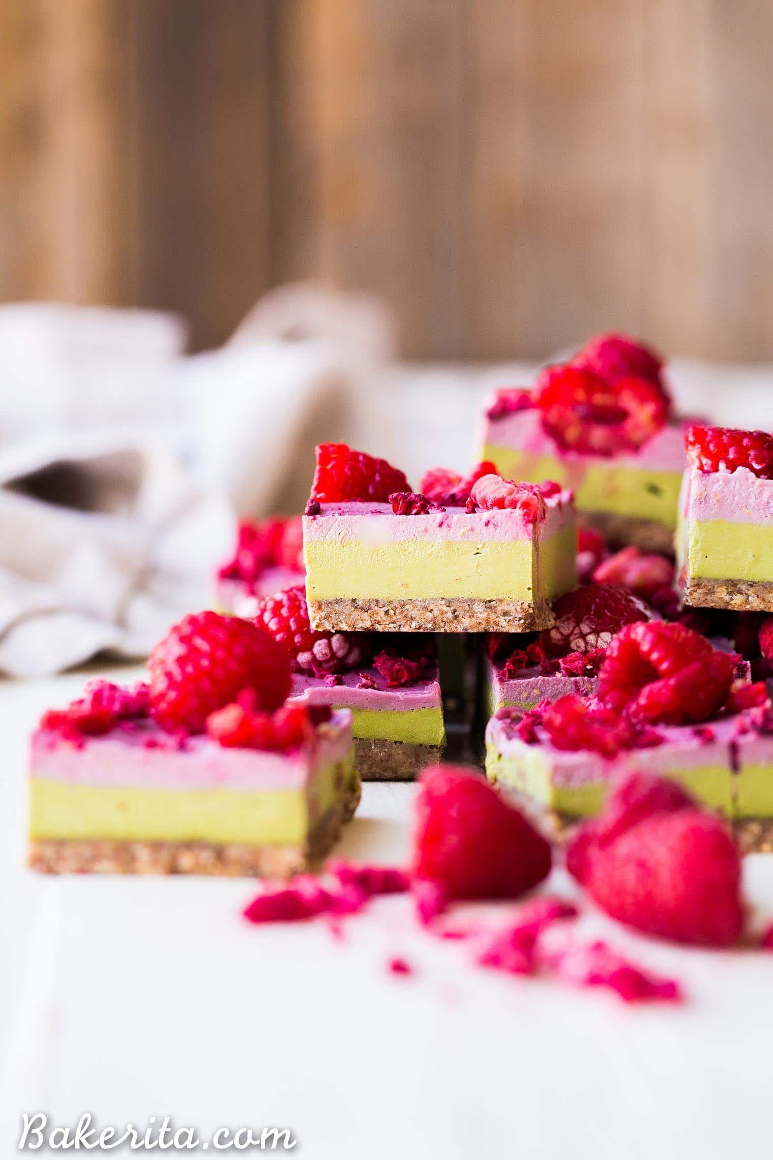 Raspberry Matcha Bars Recipe Healthy Sweet Treats Tea Recipes