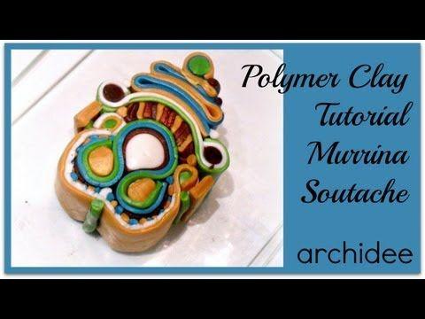 Tutorial   Polymer Clay   Murrina Soutache Kaleidoscope   DIY Millefiori Cane by archidee
