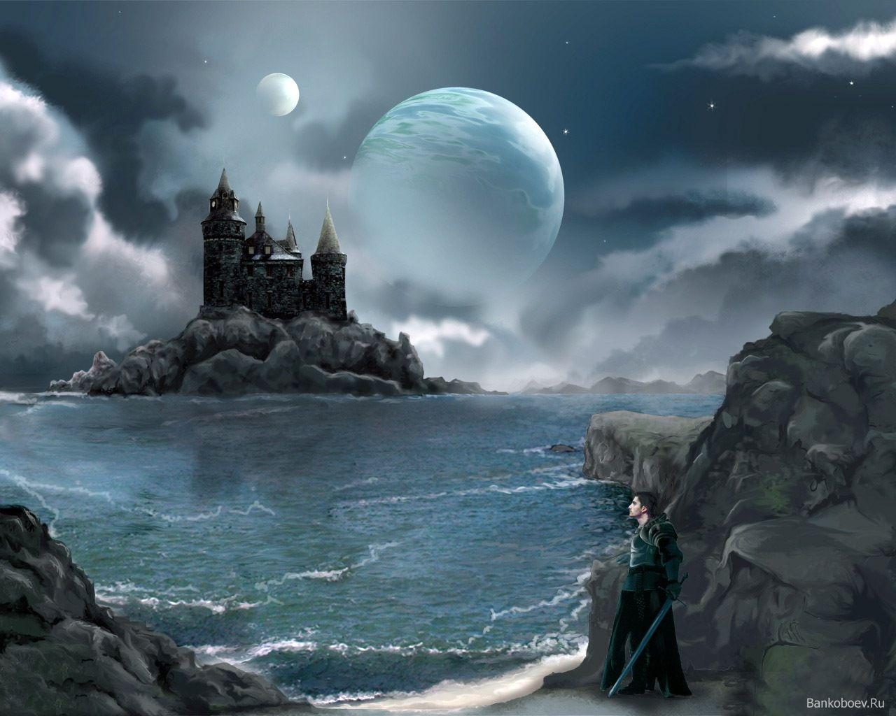 можно картинки фэнтези ночь луна замок нашем интернет-магазине представлен