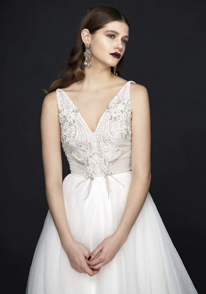Alan Hannah Wedding Dresses 2017 Porcelain Gown Collection | itakeyou.co.uk #wedding #weddingdress #weddinggown #bridalgown #weddinggowns weddingdresses #white