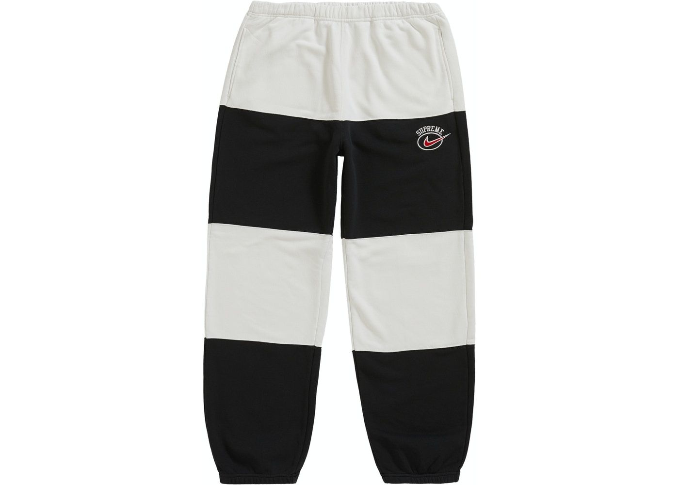 Supreme Nike Stripe Sweatpant Black In 2021 Cute Sweatpants Outfit Air Force Ones Outfits School Leggings Outfit [ 1000 x 1400 Pixel ]