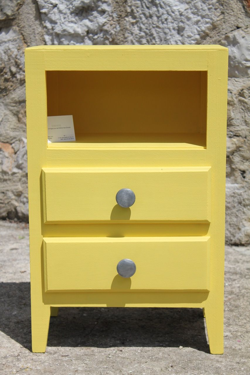 Meuble vintage jaune pop meubles pinterest vintage for Meuble pop art