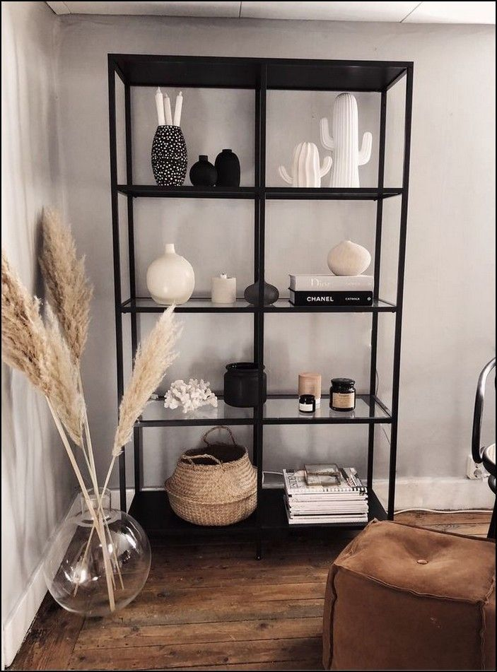Photo of 116 simple but elegant shelf decorations for living space storage ideas Page 1 – New Ideas
