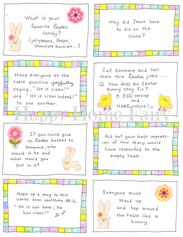 Easter Conversation Cards - FREE Printable Conversation, Easter