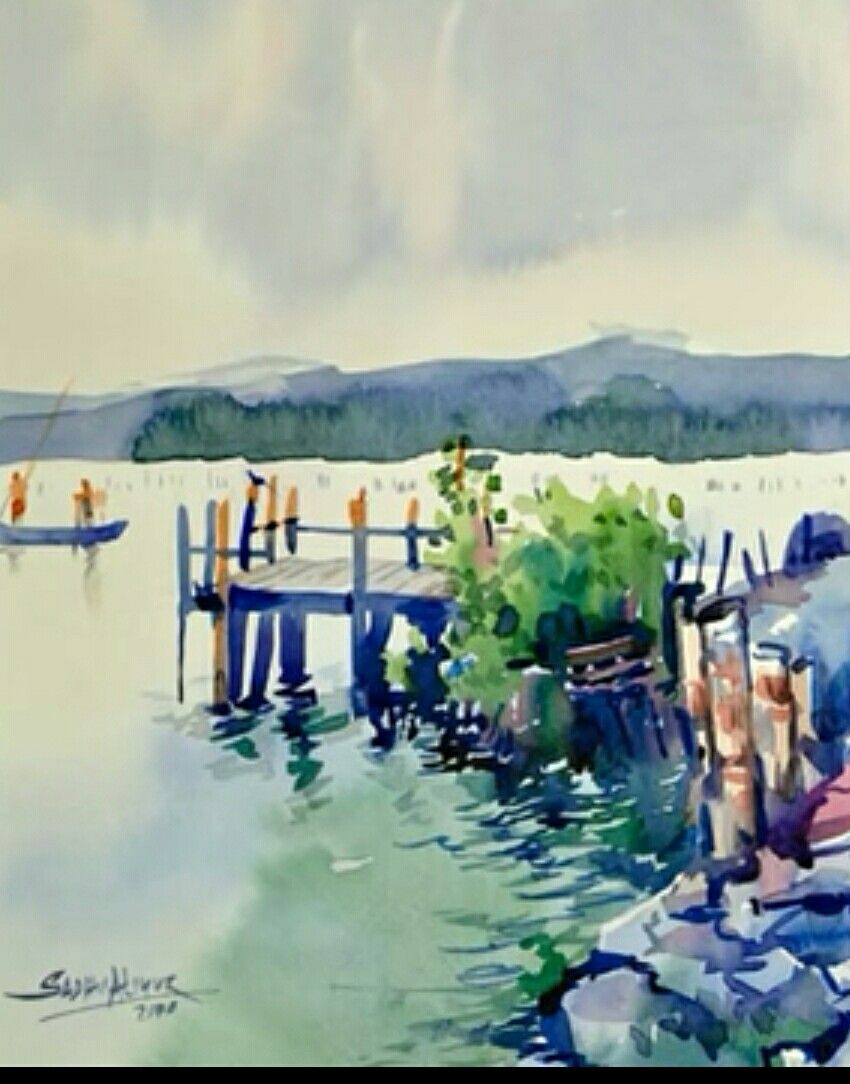 WATERCOLORS | PAINTING WITH WATERCOLORS 2 | Indian art