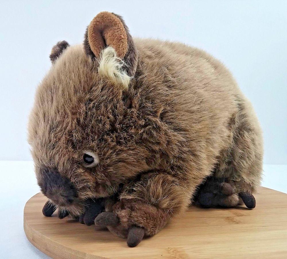 Minkplush Russell Wombat Stuffed Animal Australian Medium Realistic Plush 12 Animals Pet Toys Wombat [ 904 x 1000 Pixel ]