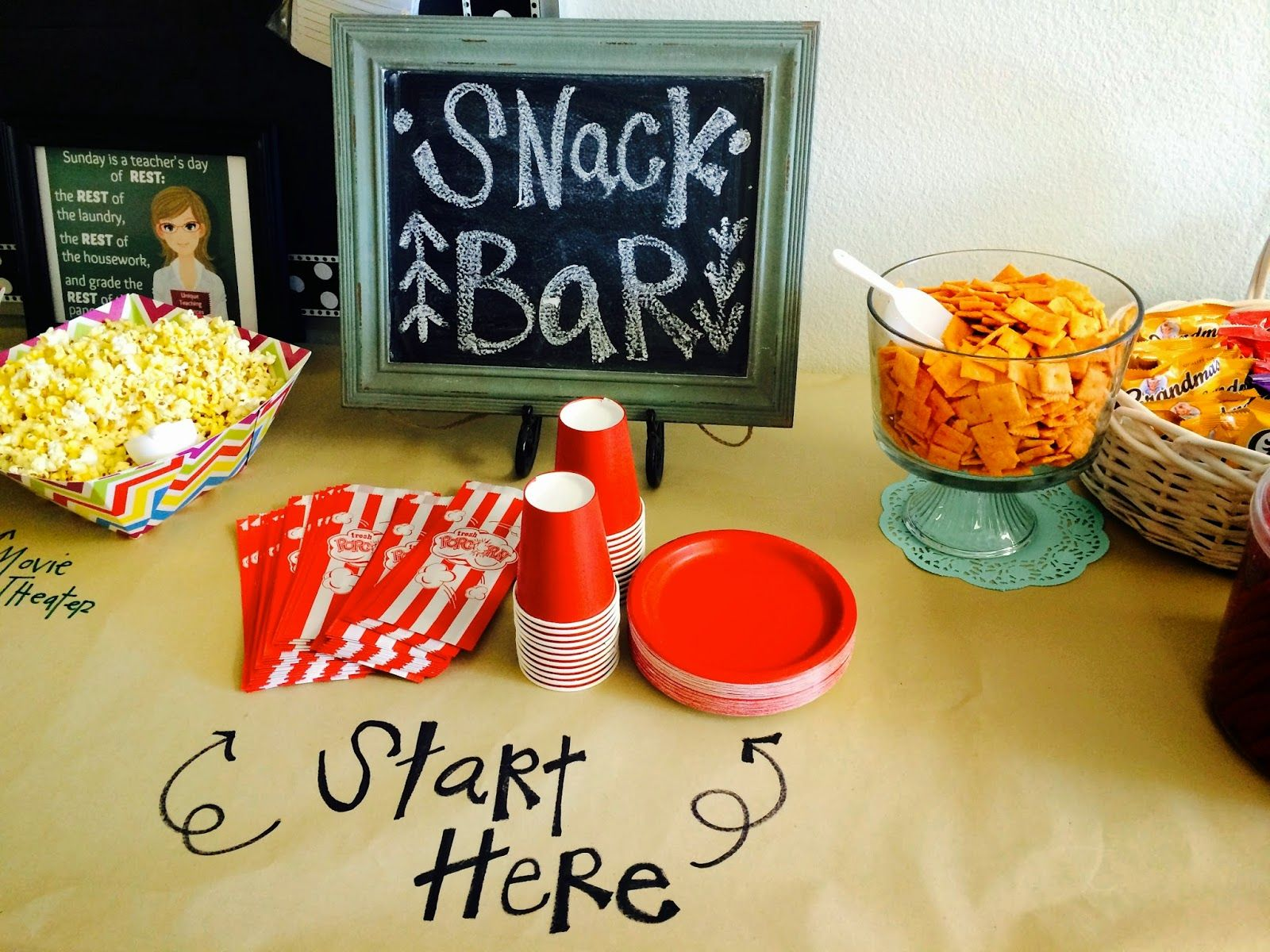 Super Cute Idea For A Snack Bar For Teacher Appreciation Week Or To Set Up For Half Days Wh Teacher Treats Teacher Appreciation Food Ideas Teacher Appreciation
