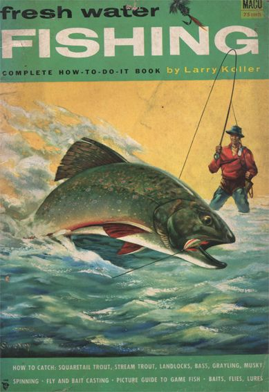 Fresh Water Fishing magazine, 1954, cover art by Fred Sweney