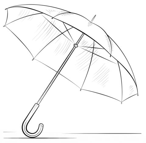 Dibujo De Paraguas Para Colorear Y Pintar Dibujos Paraguas Dibujos Para Principiantes Arte De Paraguas