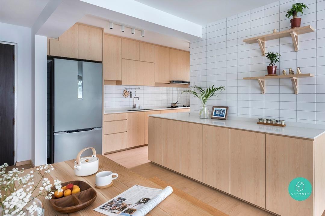 This Bright Minimal Bto Is A Muji Catalogue Come To Life Kitchen Interior Muji Home Interior