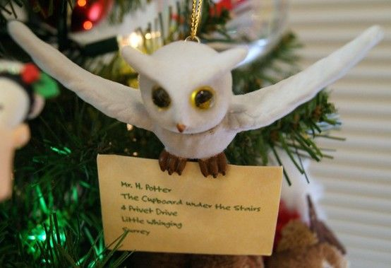 Owl Ornament #ChristmasHP  #harrypotter