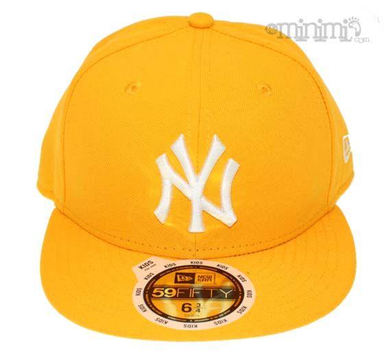 New Era Casquette Enfant NY Yankees - Jaune #casquette #newera #jaune #yellow #yankees #newyork #NY