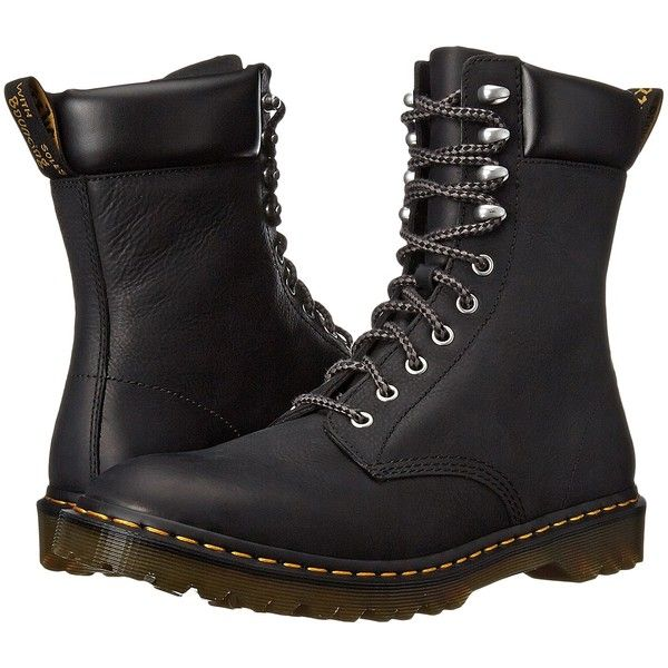 Dr. Martens Padten Men's Shoes, Black ($120) ❤ liked on Polyvore featuring men's fashion, men's shoes, black, mens slip resistant shoes, dr martens mens shoes, mens lace up shoes, mens black shoes et mens shoes