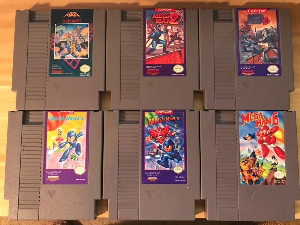 Mega Man 1 2 3 4 5 6 Megaman Nintendo System Nes Authentic