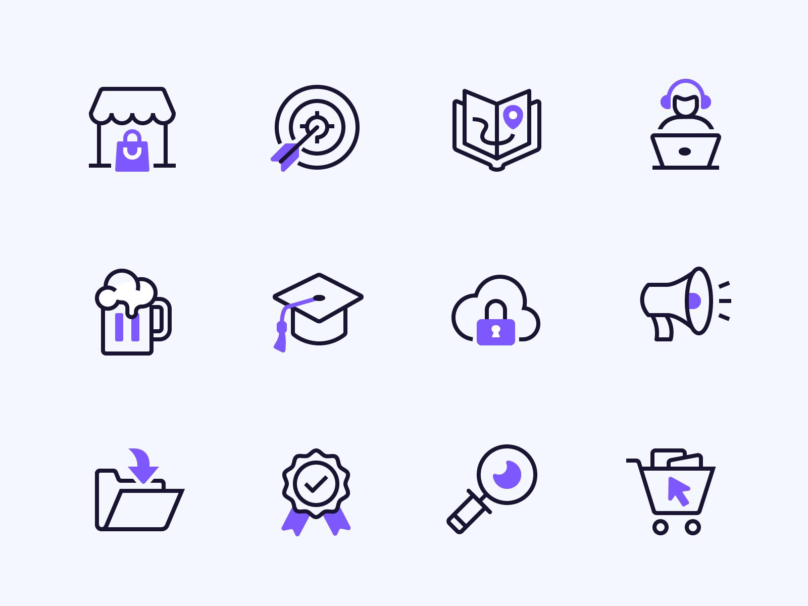 Mesosphere Duotone Icons Full Icon Set By Zach Roszczewski Icon Set Design Free Icon Set Icon Set