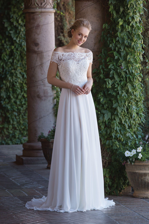 Sincerity-hääpuku 4003. Sweetheart Chiffon Gown with Beaded ...