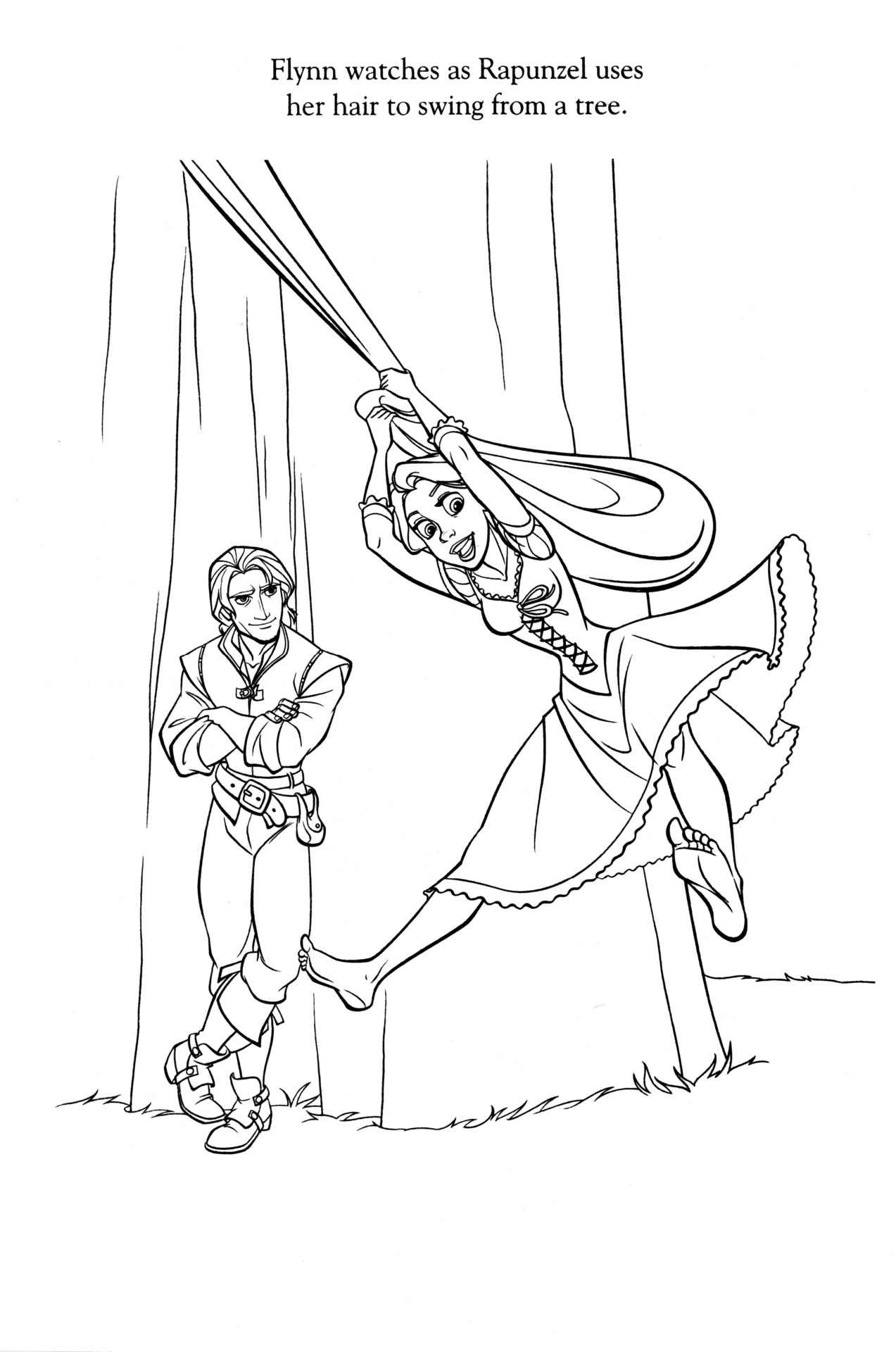 Disney Coloring Pages Photo Tangled Coloring Pages Rapunzel