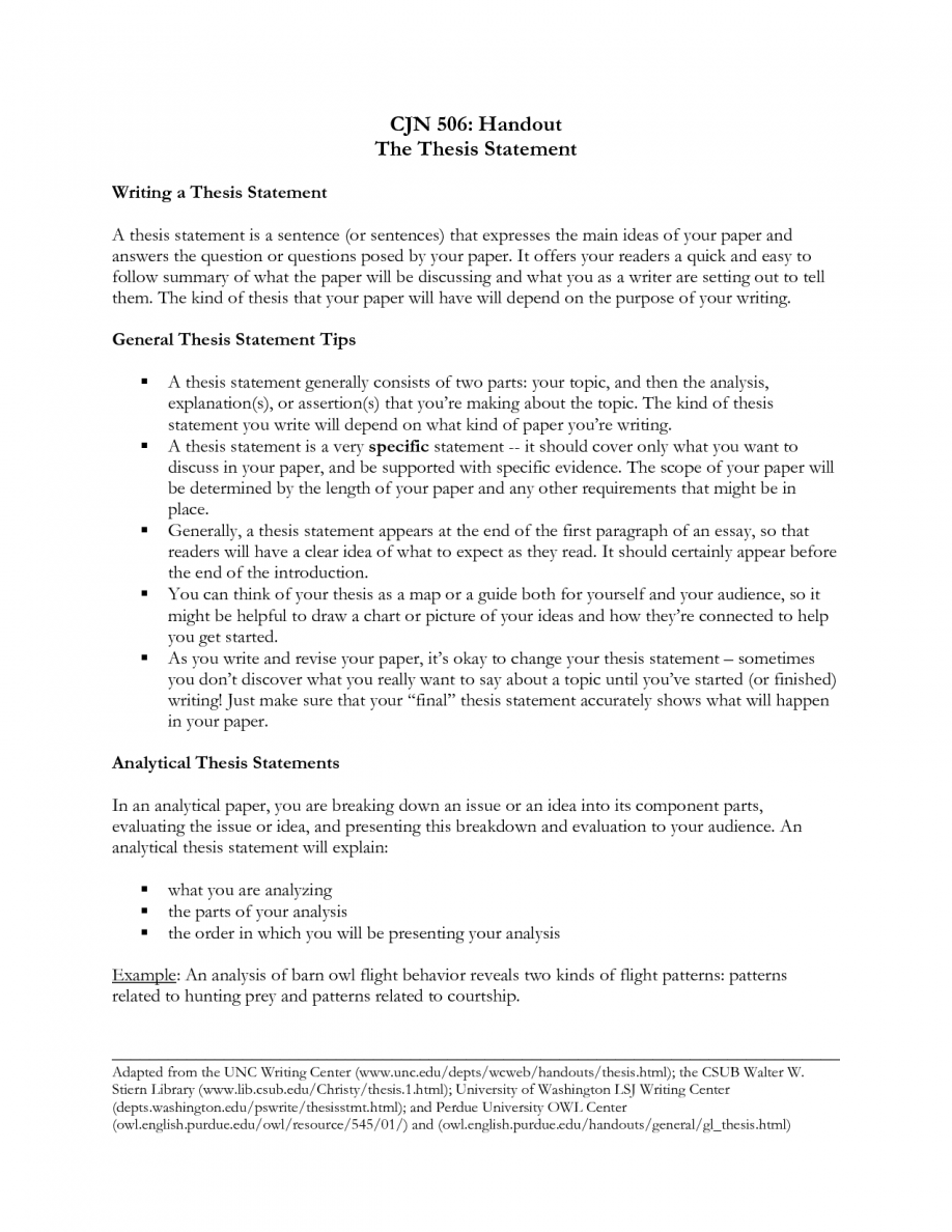 Narrative Essay Thesis Statement  How To Write A Thesis For A  Narrative Essay Thesis Statement