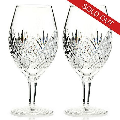 """431-325 - Waterford Crystal Ronan 7.7"""" Set of Two Glasses"""