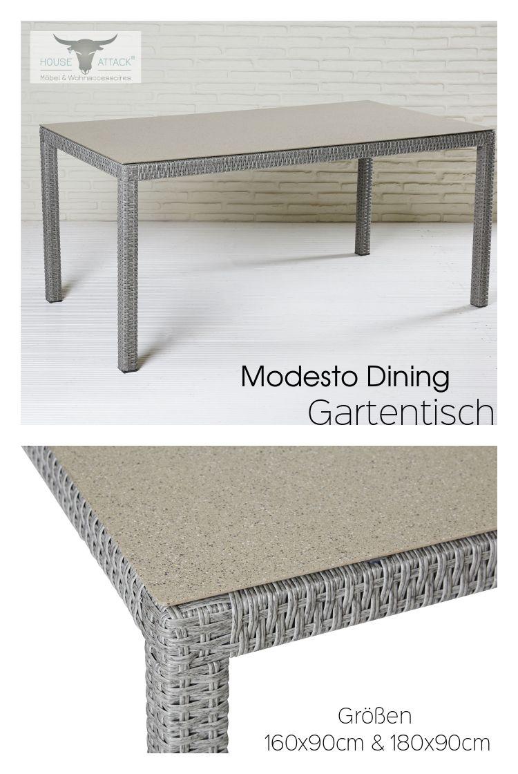 Lc Garden Gartentisch 160 X 90 Cm Modesto Dining Grau