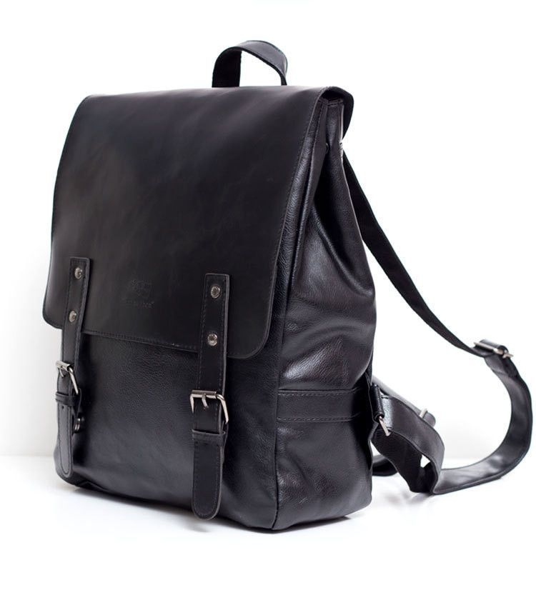 2016 Hot! Men and women fashion PU leather backpack school bag popular style orange bags and shoulder school backpacks for women