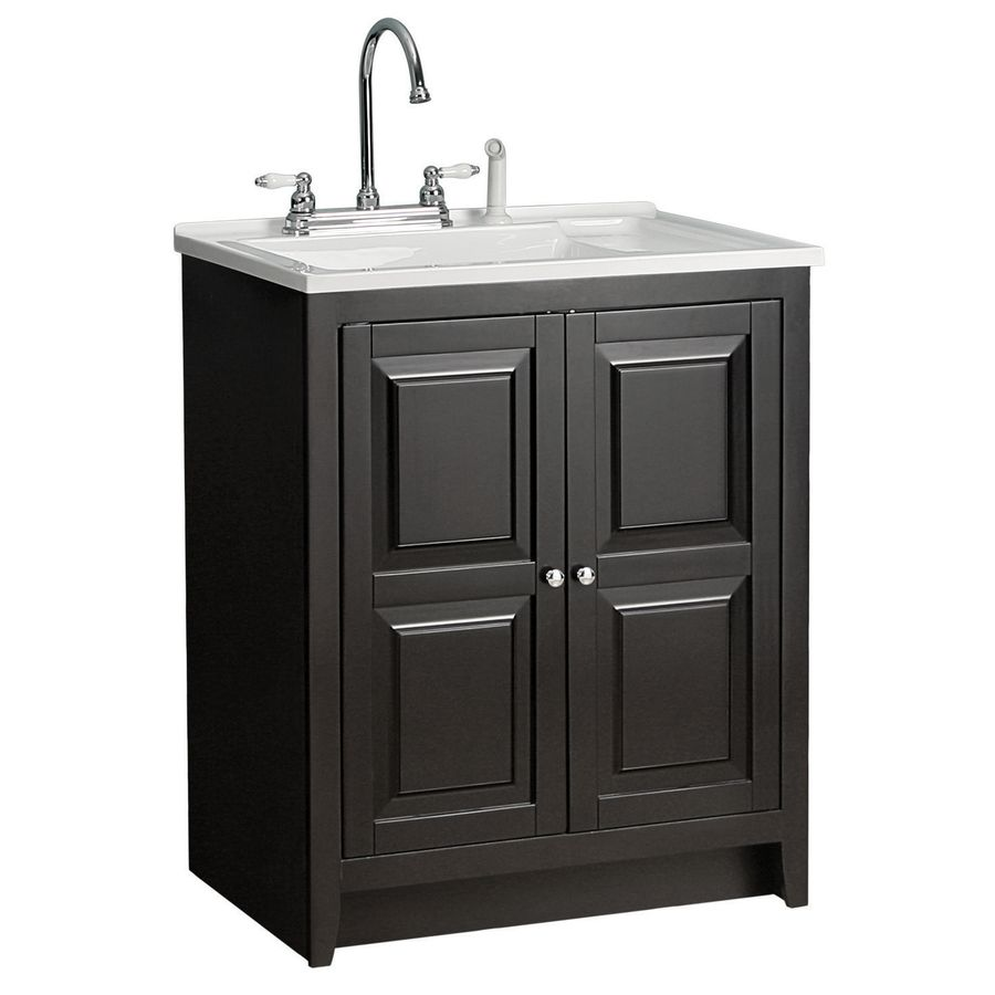 shop foremost casual acrylic utility tub in 30 1 2 on lowe s laundry room storage cabinets id=89082