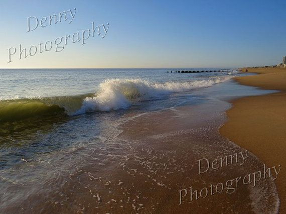 Waves At Rehoboth Beach Delaware Digital Nature Scenes Photography