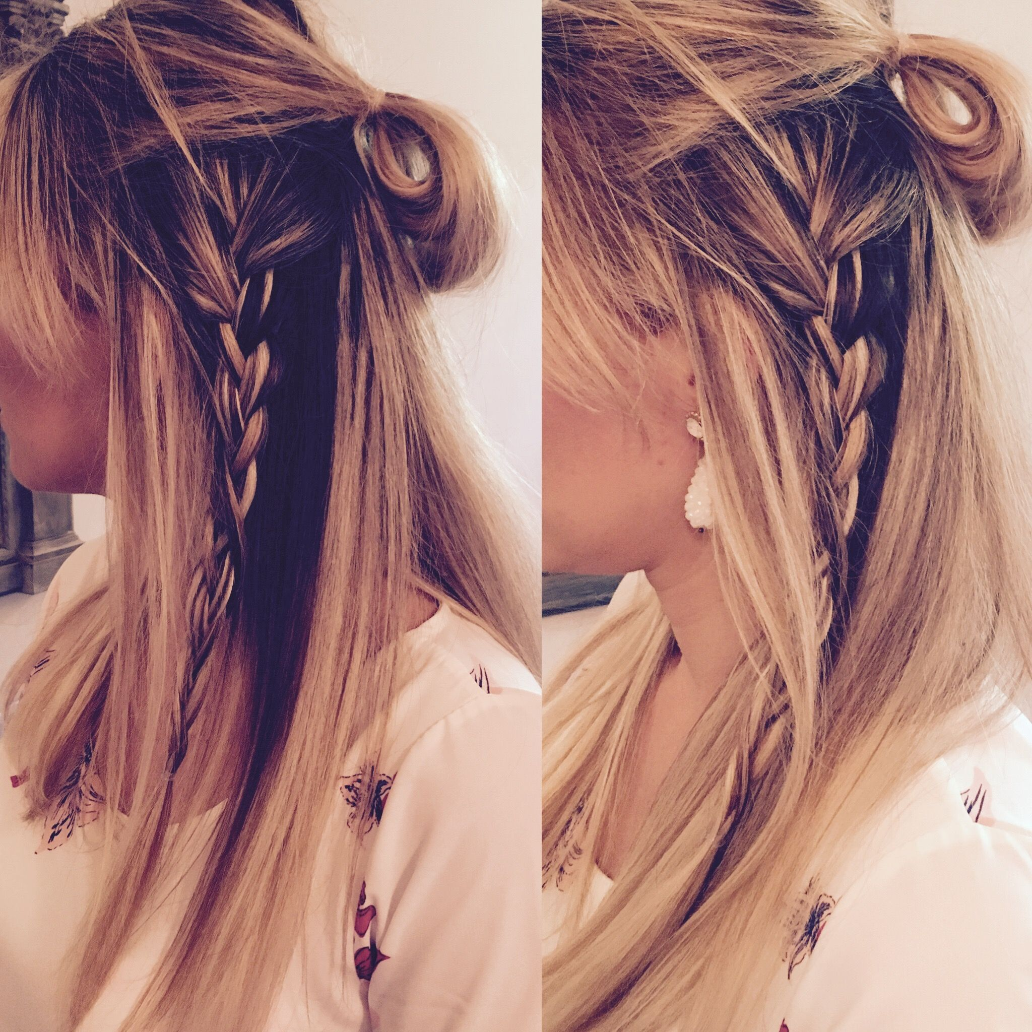 Hairstyle of the day halfup with braid