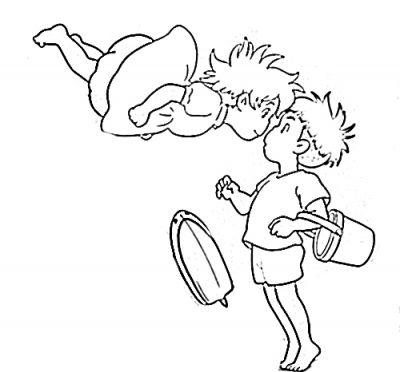 Dibujos Para Pintar De Ponyo Busqueda De Google En 2020 Dibujos Libretas De Dibujo Tatuaje Ghibli