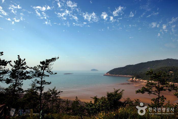 캠핑장 이용객에게만 허락되는 한적한 해변, 전남 신안 <암태도 몽돌해변>