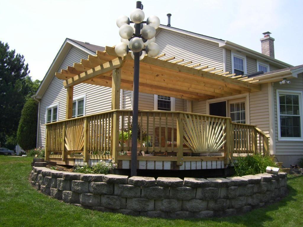 Bamboo gazebo deck plans - Deck And Pergola Combo