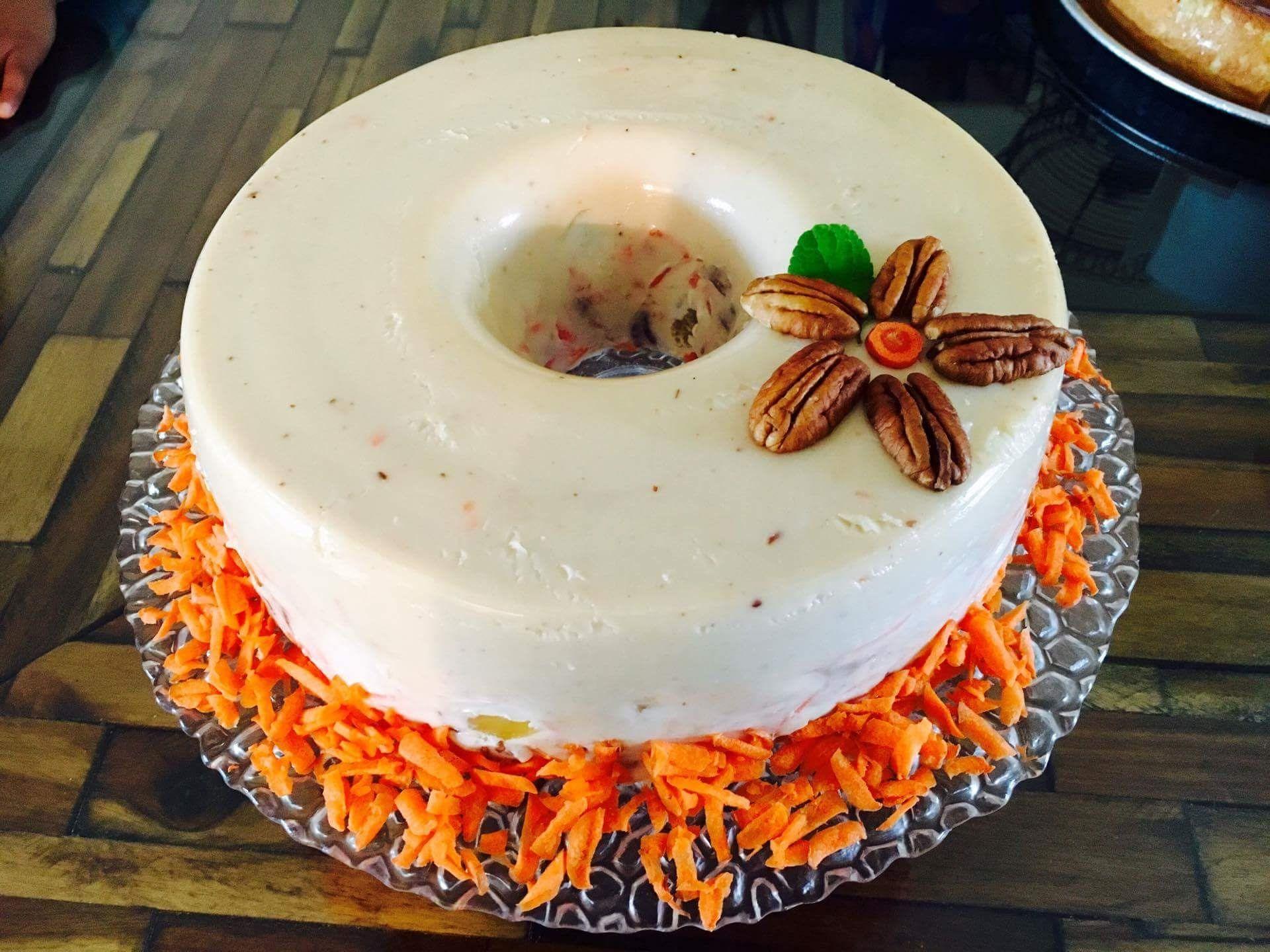 Gelatina de zanahoria piña y nuez