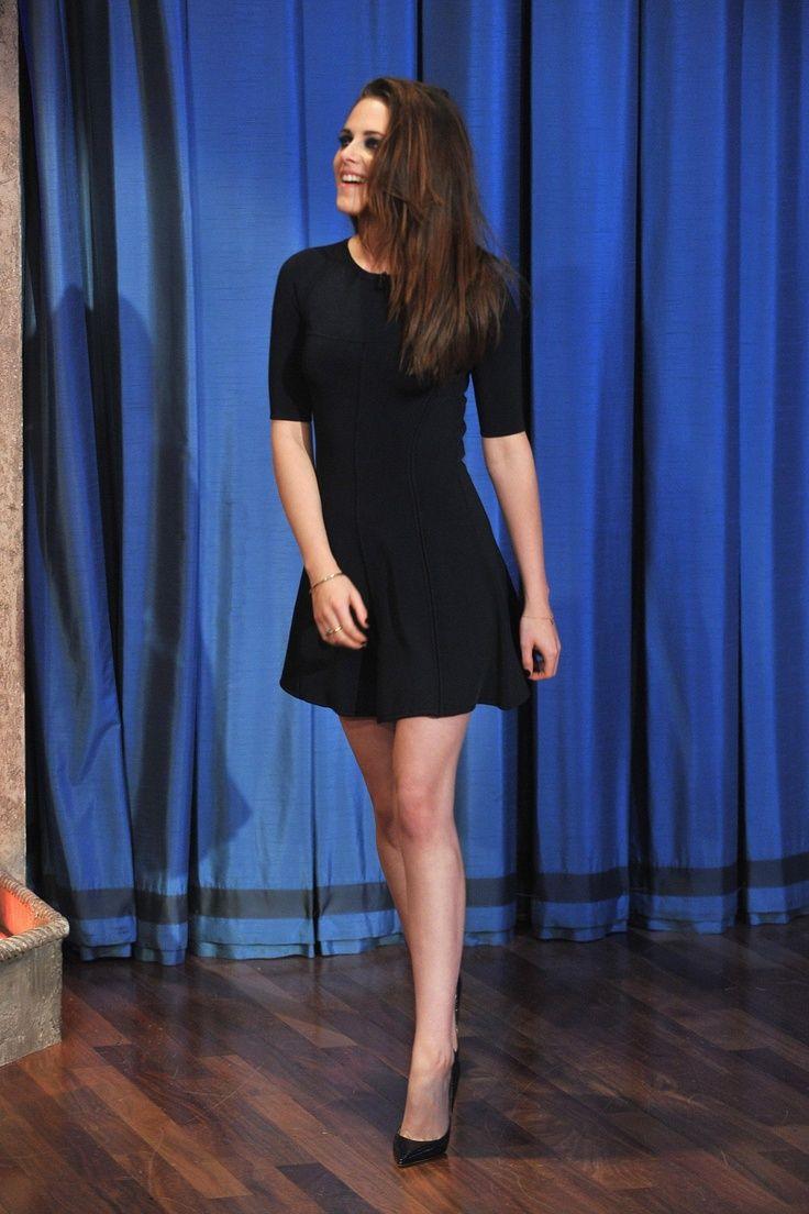 SZ380 Kristen Stewart Sexy Black A-Line Celebrity Dresses Elegant Half  Sleeve Above Knee Party Girl Gowns Robe De Soiree cf695237ed9
