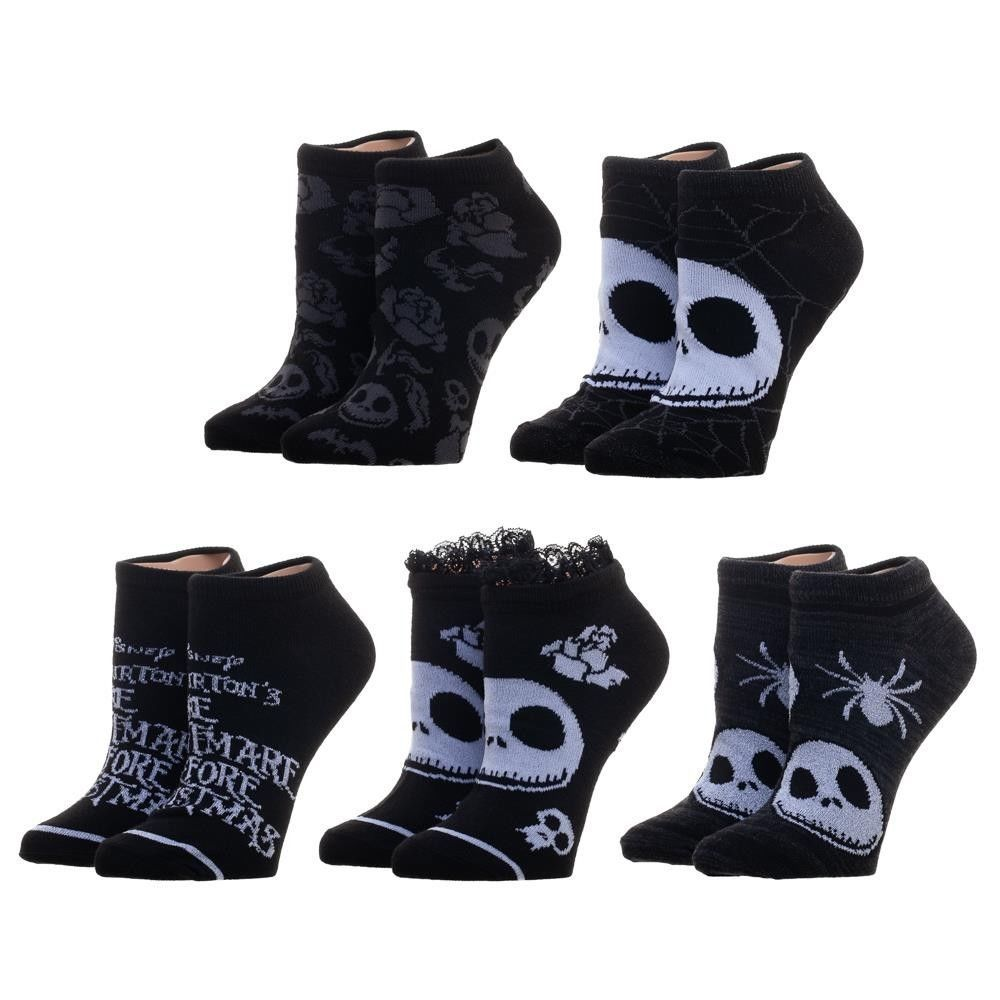 Details about 5 Pairs Nightmare Before Christmas Ankle Socks ...