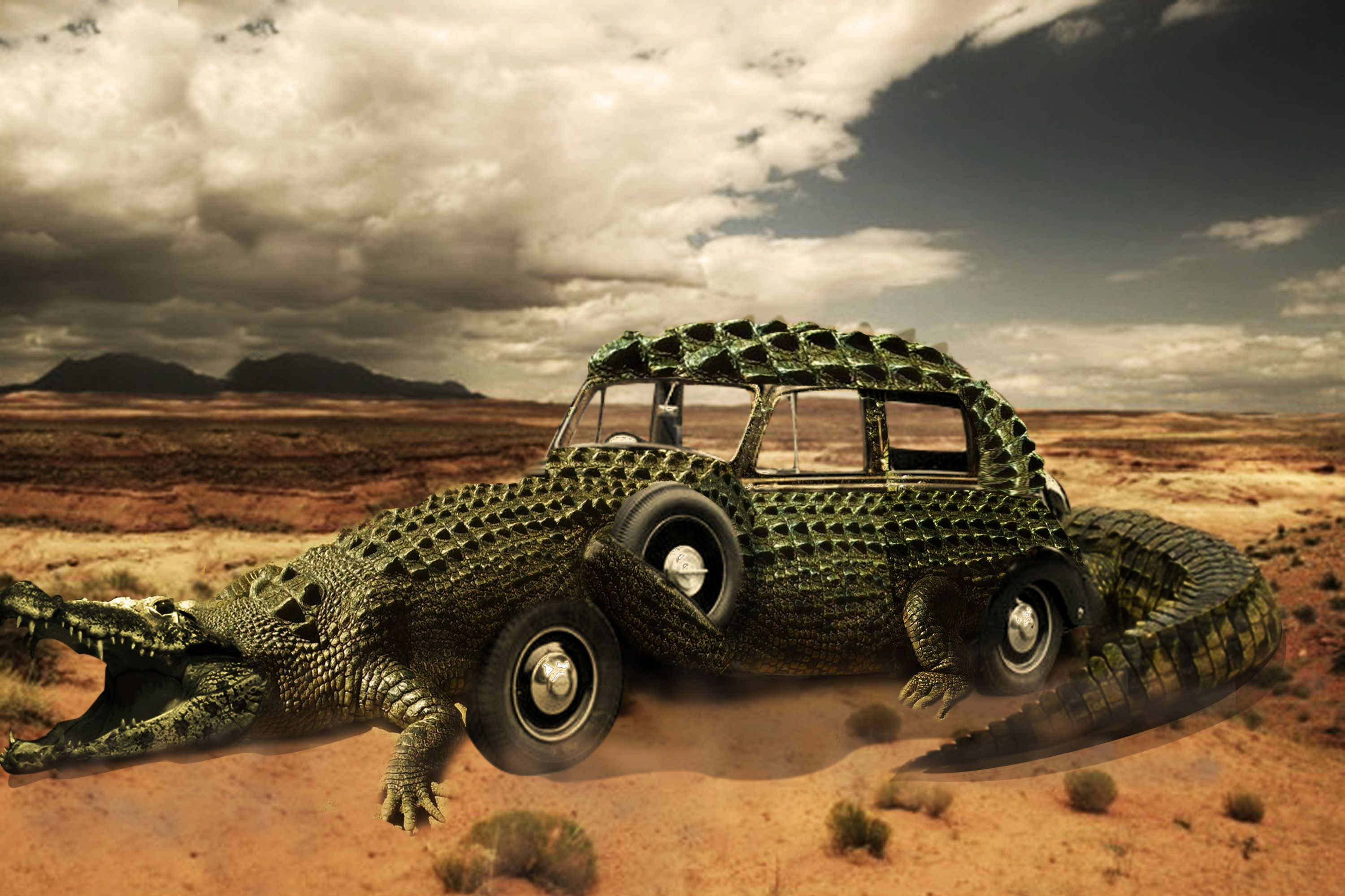 Fotomanipulacin cocodrilo cocodrilos pinterest how to create an exotic crocomobile in photoshop currently viewing photoshop tutorials from photoshop lady baditri Images