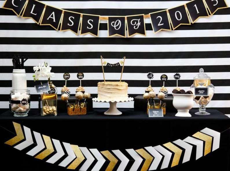 Graduación en dorado y negro
