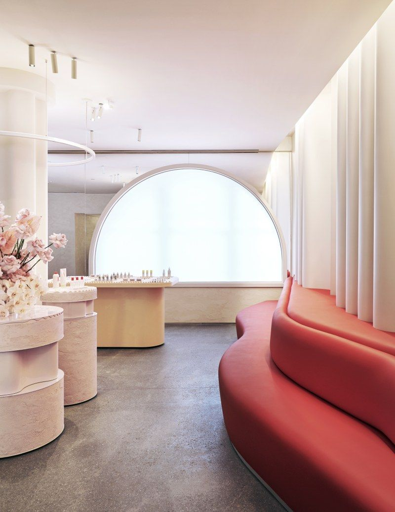 Glossier new york flagship store design and inspiration places