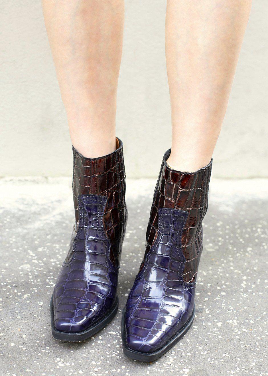 a96610e7880 Ganni Callie Boots in Ganache – The Frankie Shop | Heels, Boots ...