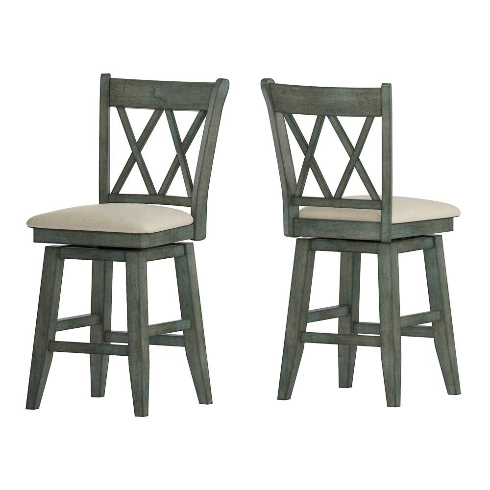 """24"""" south hill double x back swivel counter height chair"""