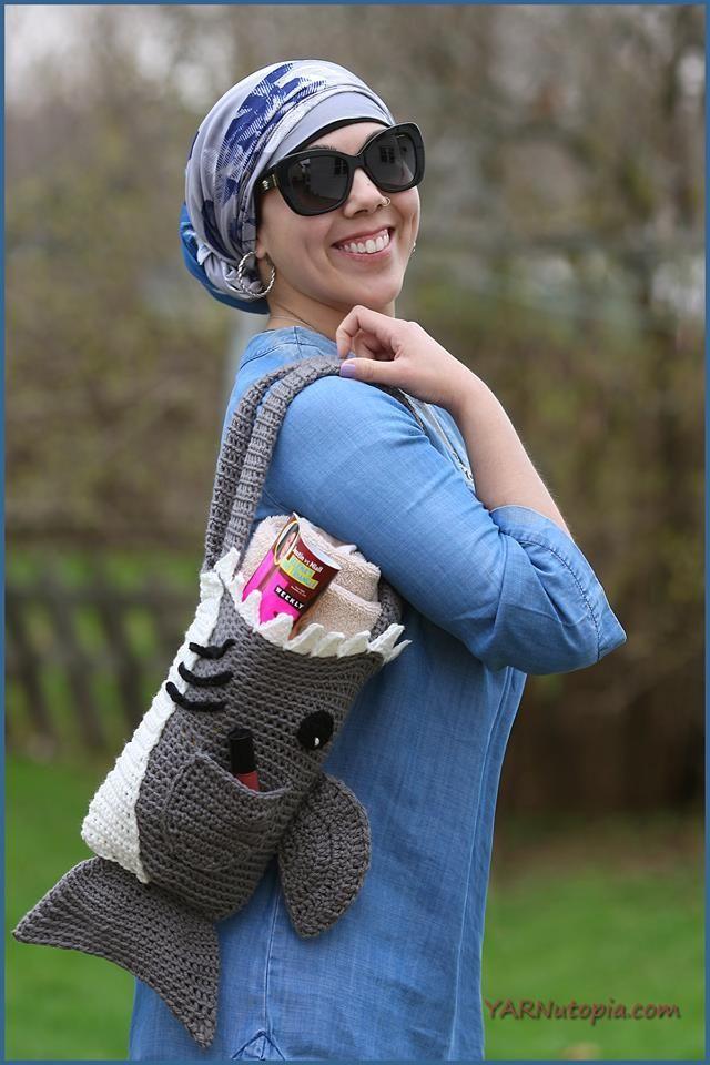 8 Free Shark Crochet Patterns For Shark Week Bags Scrubby