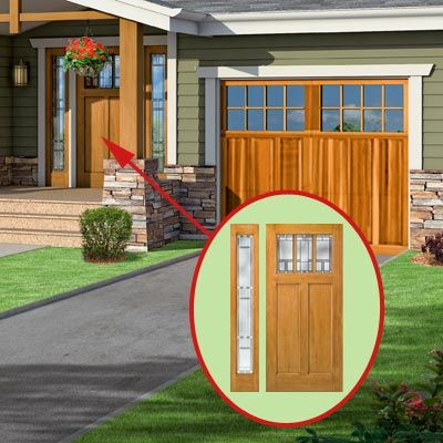 A Craftsman Style Photoshop Redo Focuses On The Front Door
