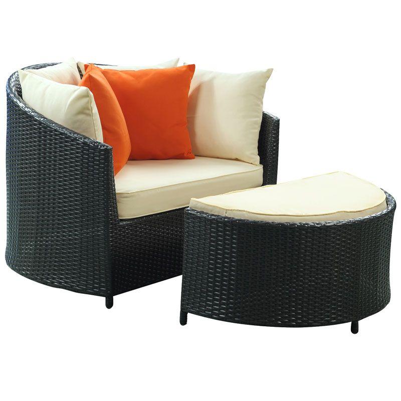 Roxanne Modern Outdoor Chair Ottoman Modern Patio Furniture Modern Outdoor Furniture Wicker Patio Chairs